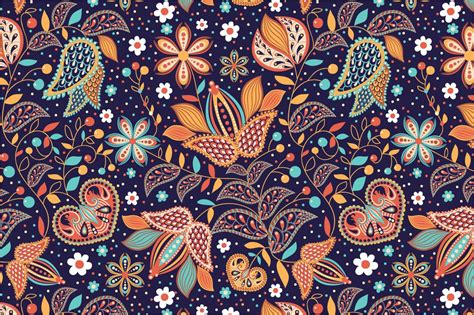 seamless pattern indian summer graphic patterns