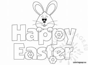 Easter Coloring - Happy Easter