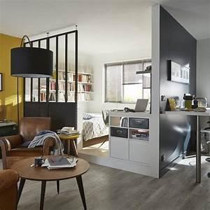 Separation Salon Chambre : la verri re int rieure en 62 id es pour toute la maison ~ Zukunftsfamilie.com Idées de Décoration
