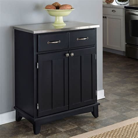 kitchen server furniture black buffet with stainless top home styles furniture
