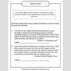 Tone Examples, Definition And Worksheets Kidskonnect