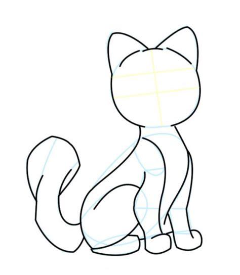 cartoon cat drawings clipartsco