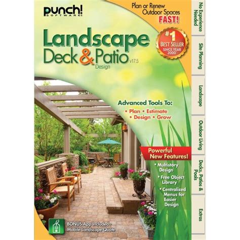 base of free software punch landscape deck and patio
