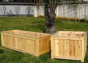 large wood planters plans woodideas