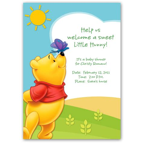 winnie the pooh baby shower invitations winnie the pooh baby shower invitation disney baby