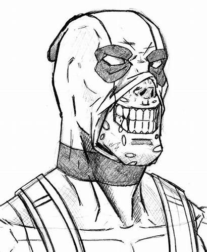 Deadpool Coloring Pages Drawing Chibi Maniac Rocks