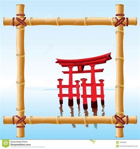japanese bamboo frame royalty  stock  image