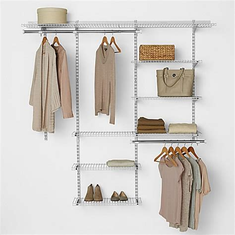 Rubber Made Closet Organizers by Rubbermaid 174 3 Foot To 6 Foot Deluxe Closet Organizer Kit
