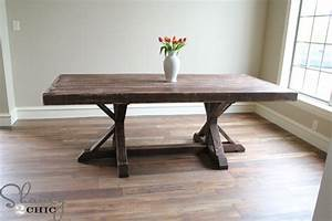 restoration hardware inspired dining table for 110 With diy dining room table plans