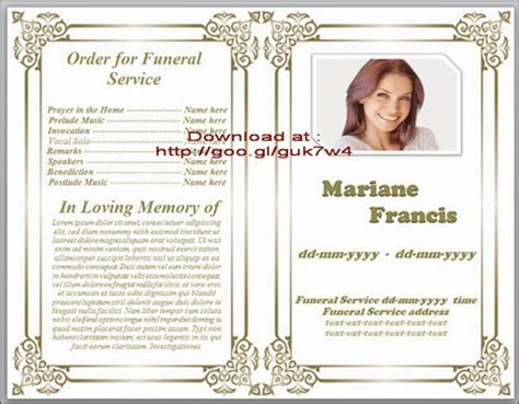 funeral  funeral program templates scoopit