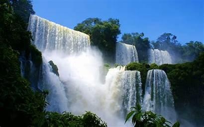 Waterfall Nature Waterfalls Scenic Wallpapers Scenery Desktop