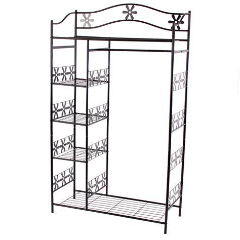 armario de ropa en metal ginebra perchero estante de metal 172x100x43 cm