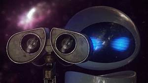 HD Background Wall E Eve Robot Love Couple Movie Character