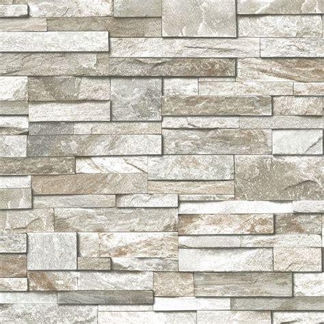 Wand Aus Stein by Grandeco Design Vliestapete Steinwand Grau Taupe Bei