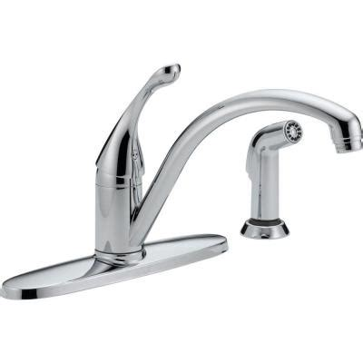 home depot delta kitchen faucets delta collins single handle standard kitchen faucet with side sprayer in chrome 440 dst the