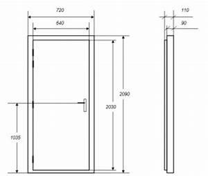 portes isophoniques iso ps porte acoustique With dimension porte interieur standard