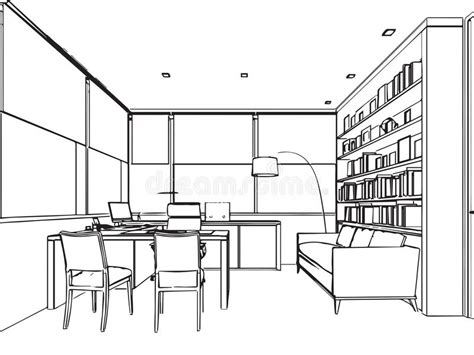 bureau de dessin perspective intérieure de dessin de croquis d 39 ensemble d