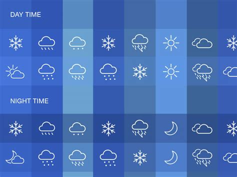 desk top sets weather icons set sketch freebie