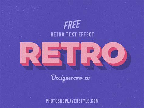 Free 3d Retro Text Effect Psd