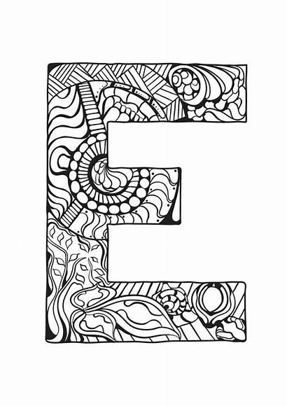 Alphabet Coloring Pages Children Mandala Coloriage Ausmalbilder