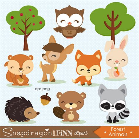 Woodland Clipart Forest Animal Clipart Baby Animal Clipart
