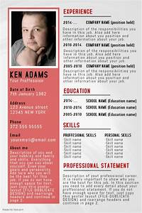 simple professional resume cv poster flyer template With resume poster