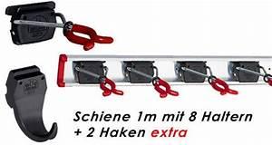 Haken Für Gartengeräte : bruns ger tehalter schiene 100 cm mit 8 haltern 2 haken extra f r garten ger te werkstatt ~ Frokenaadalensverden.com Haus und Dekorationen