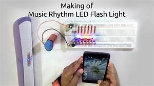 How To Make A Music Rhythm Led Flash Light Using Microphone