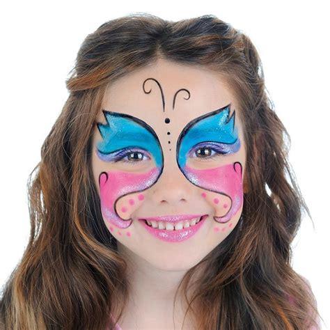 kinderschminken vir gesicht schmetterling schminken einfache anleitung bilder und
