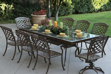 patio furniture cast aluminum dining set91 quot rectangular