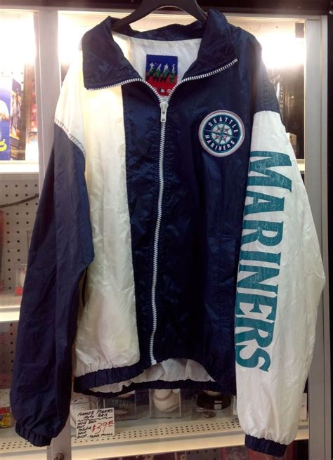 vintage seattle mariners baseball jacket size