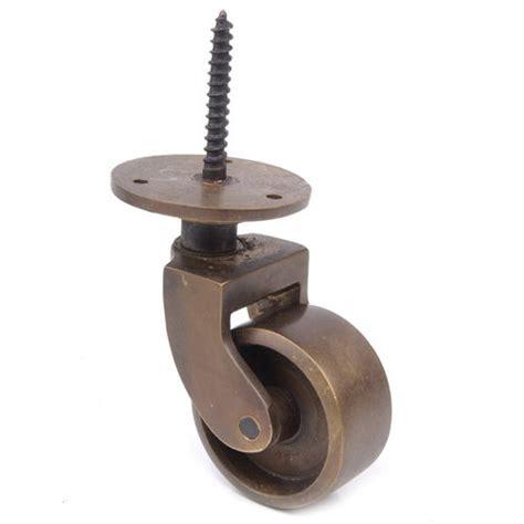 restorers solid brass threaded caster 1 inch wheel
