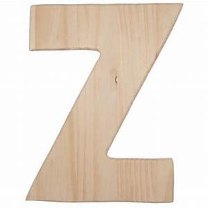 12quot natural wood letter z 0993 z craftoutletcom With wooden letter z