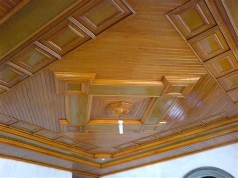 terbaru  desain plafon kayu minimalis