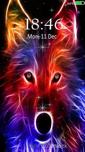 neon wolf  wallpaper lock screen latest version apk