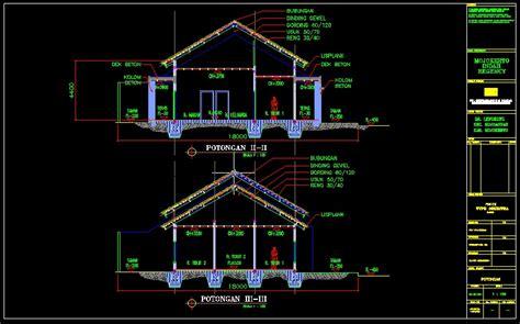 desain atap rumah  desain atap rumah dwg