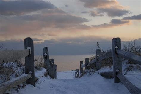 Winter's Path  Sea Cape Cod By Michael Mosier
