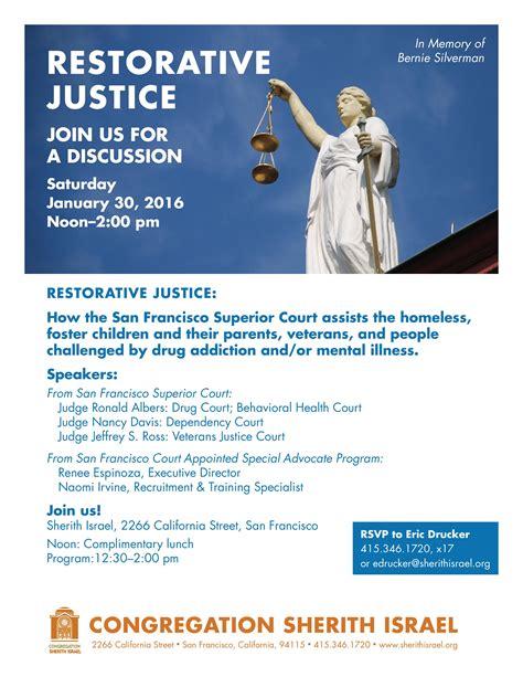 justice phone number restorative justice san francisco interfaith council