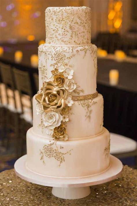 tier light pink shimmery rose gold fondant cake