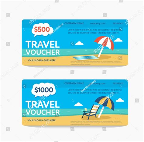 travel voucher examples psd ai word examples
