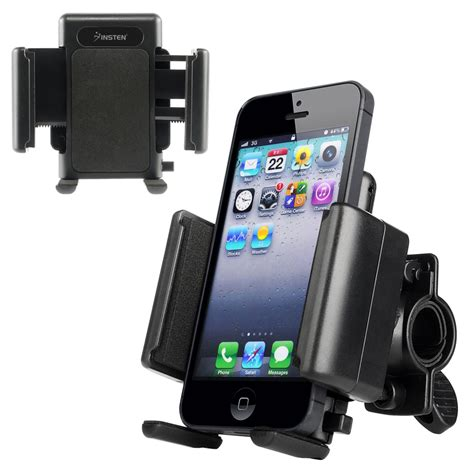 iphone holder for bike insten 428454 universal bicycle motorcycle phone holder 15291
