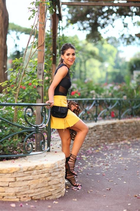 Yellow Mini Skirt With Black Accessories Pictures Photos and Images for Facebook Tumblr ...