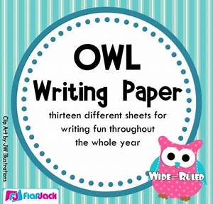 School Application Template Owl Themed Writing Paper Wide Ruled By Flapjack