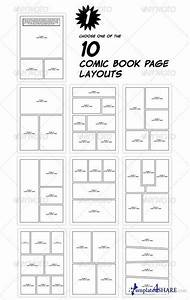 graphicriver comic book creation kit black white With comic book page template psd