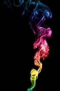 Image Gallery neon rainbow smoke