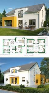 Haus Bauen Ideen Grundriss : einfamilienhaus architektur modern mit satteldach erker ~ Orissabook.com Haus und Dekorationen