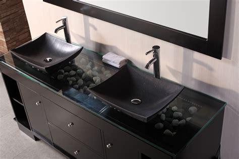 Bathroom Bowl Sinks Above Counter Glass Bathroom Sink In