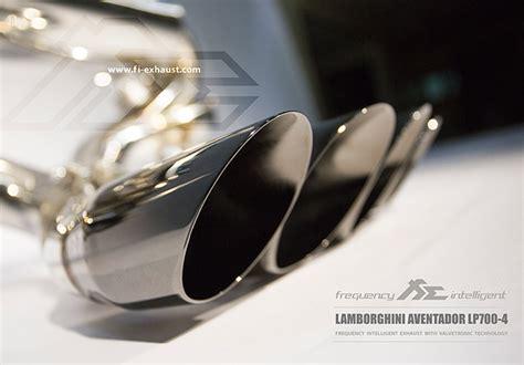 lamborghini aventador lp valvetronic exhaust system