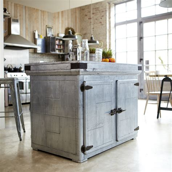 ilots centrale cuisine tikamoon zinc industrial kitchen island cupboard dresser