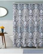 Grey And Aqua Shower Curtain by Calais Dobby Silver Teal Aqua Blue Gray Brown Paisley Fabric Shower Curtain